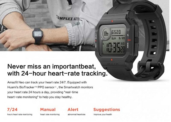 Amazfit Neo Smartwatch Features