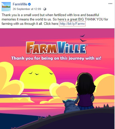FarmVille Announcement