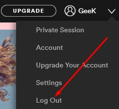 Logout From Spotify