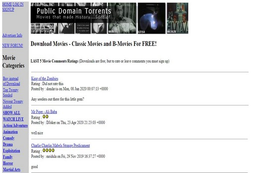 Public Domain Torrents Movies Download