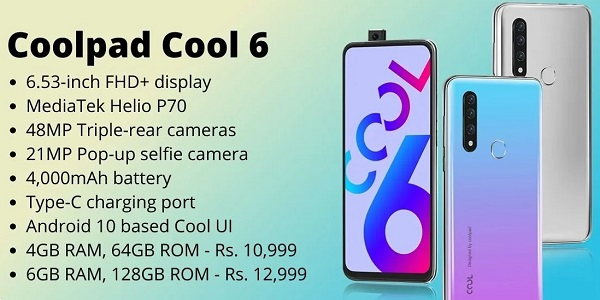 Coolpad Cool 6 Features