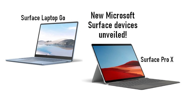 Microsoft Surface Laptop Go & Surface Pro X