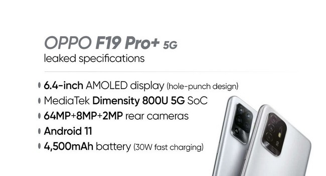 Oppo F19 Pro+ 5G Specifications