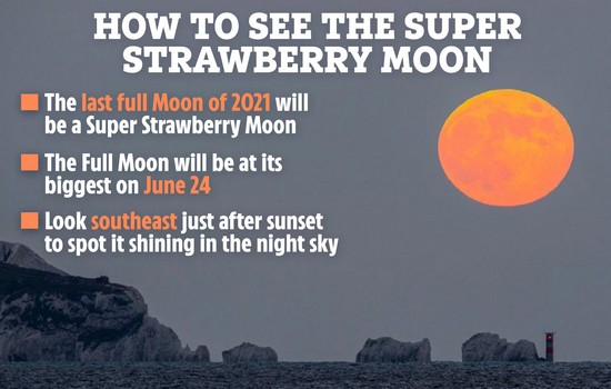 How To See Strawberry Moon