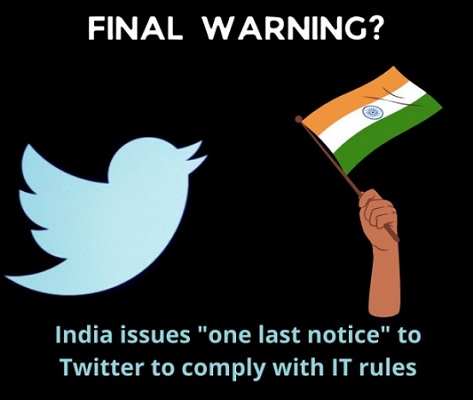 Notice To Twitter For New IT Cell Rules