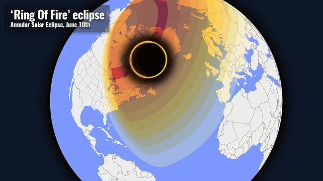 Solar Eclipse 2021 Ring of Fire