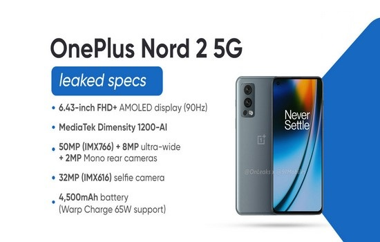 OnePlus Nord 2 5G Features