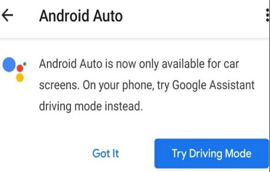 Driving Mode Android Auto